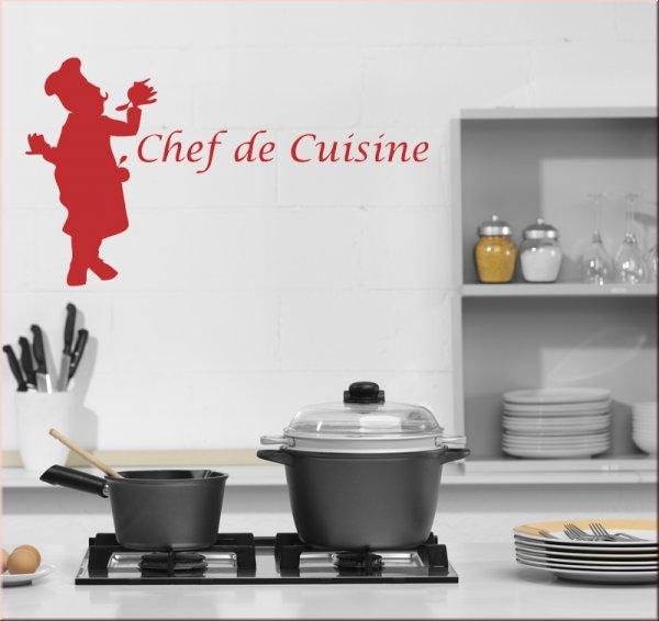 Chef De Cuisine M69 - Wandtattoo Küche - Wandtattoo Rezepte