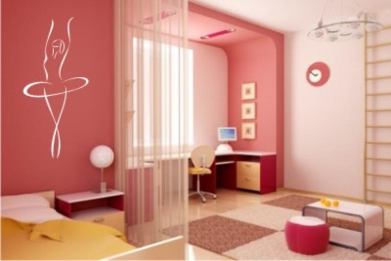 Mädchenzimmer Wandtattoo