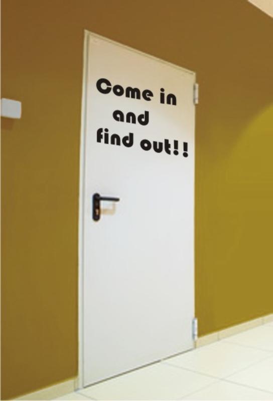 Come in and find out - Wandtattoo Sprüche & Wandaufkleber Sprüche ...