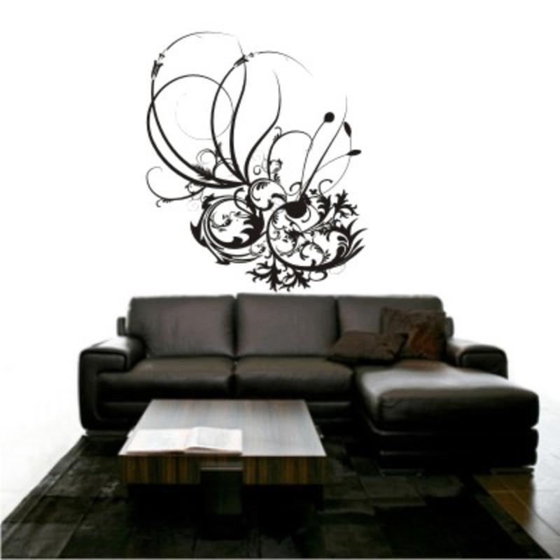exklusivartikel wanddeko wandtattoo blumen wandtattoos. Black Bedroom Furniture Sets. Home Design Ideas