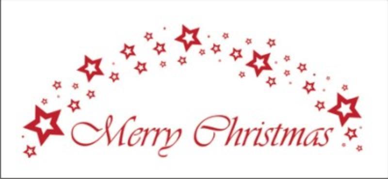 Merry Christmas incl. Sterne - Wandtattoo Weihnachten ...