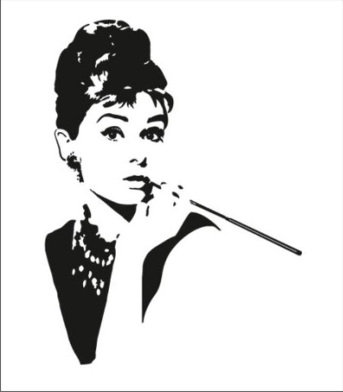 Audrey Hepburn Wandaufkleber Bild 1 2