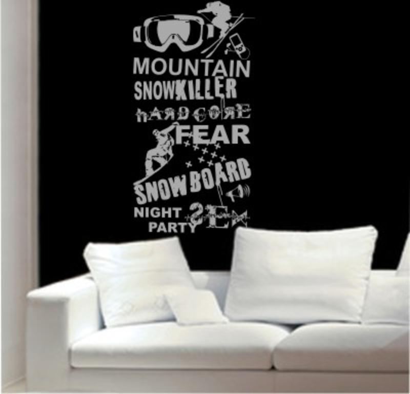 Snowboard Wandtattoo