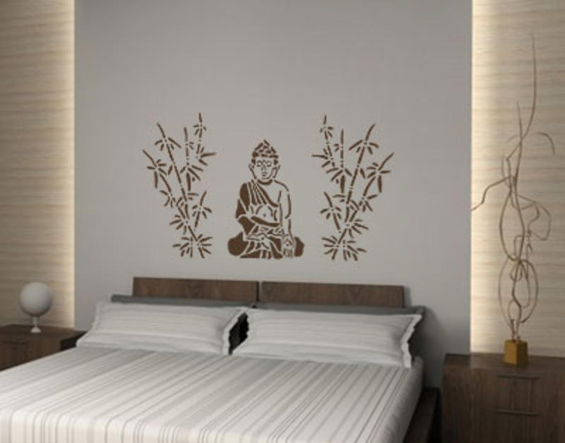 buddha mit bambus wandtattoo wandtattoo menschen. Black Bedroom Furniture Sets. Home Design Ideas