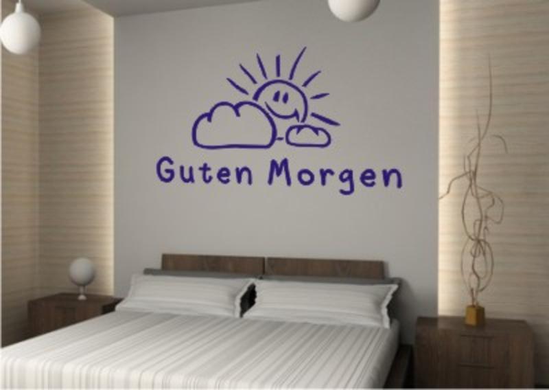 Guten Morgen Wandtattoo - Wandtattoo Schlafzimmer & Wandtattoos ...