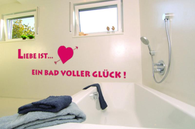 Liebe Ist... Ein Bad Voller Glück! Wanddeko Bild 1 ...