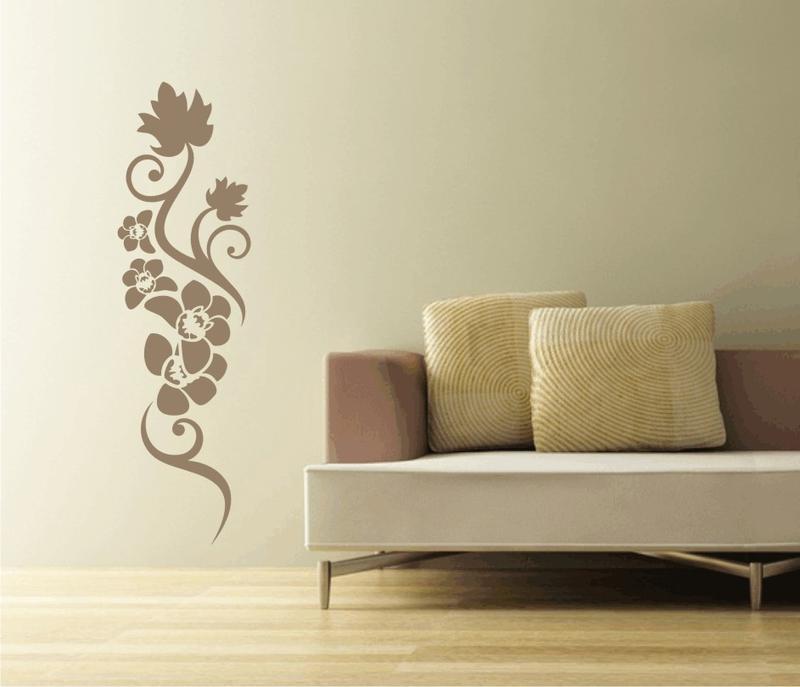 ranke mit eichenblatt wandtattoo blumen wandtattoos blumen g nstig ka. Black Bedroom Furniture Sets. Home Design Ideas