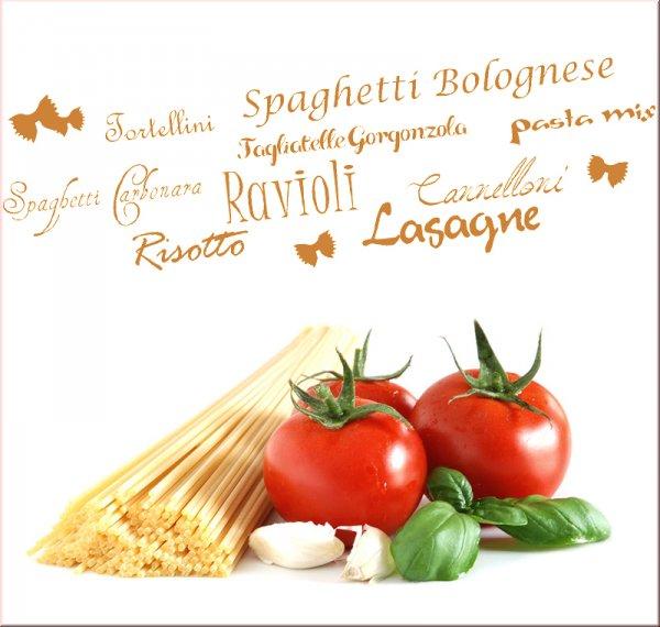 Wandmotiv italienische Küche - Wandtattoo Küche - Wandtattoo Rezepte ...
