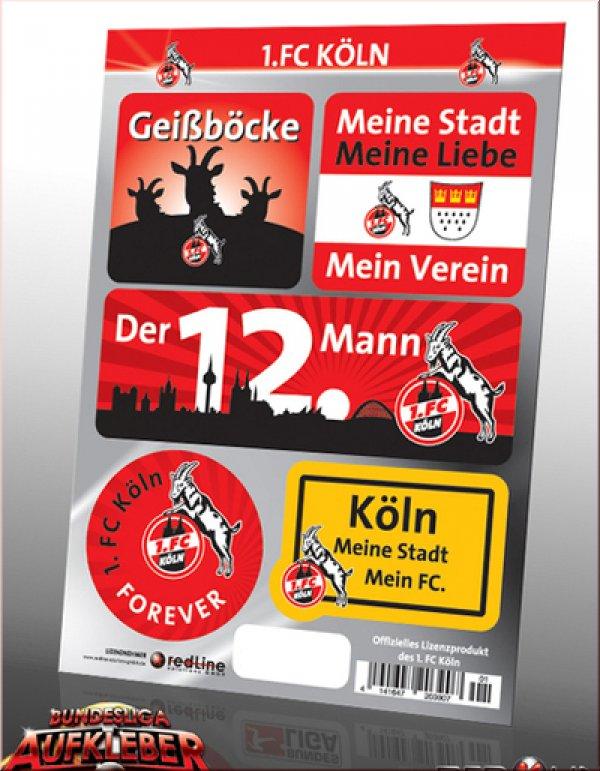 1 Fc Köln Bundesliga Aufkleber Für Den Fussball Fan