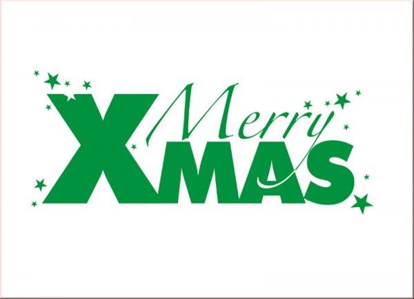 Merry XMAS Wandtattoo Bild 2
