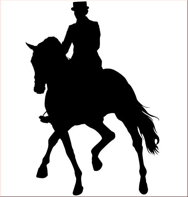 Wandtattoo dressurpferd for Wandfolie schwarz
