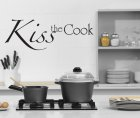 Kiss the Cook Wandtattoo