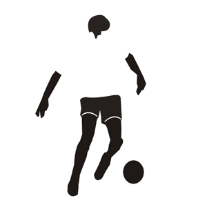 Tapetenaufkleber fussball dribbeln unz hlige sport for Wandfolie transparent